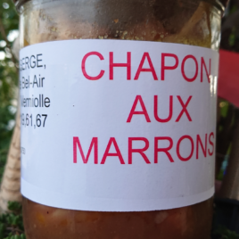 Conserves de Chapon aux Marrons