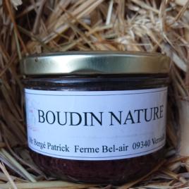 Conserve de Boudin Nature de Porc- 190 g