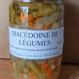 Conserve de macédoine de Légumes