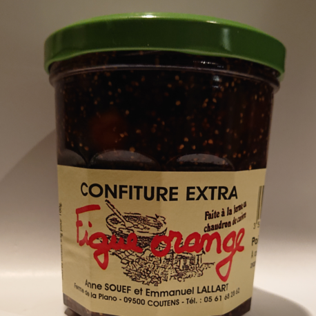 confiture figue orange